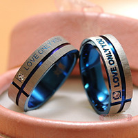 1 Piece!!! Stainless Steel  Couple Rings, his and hers promise ring sets For men and women