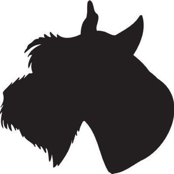 Giant Schnauzer Silhouette Dog Puppy Breed Long Die Cut Vinyl Transfer Decal Sticker