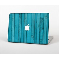 """The Signature Blue Wood Planks Skin Set for the Apple MacBook Pro 15"""" with Retina Display"""