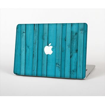 "The Signature Blue Wood Planks Skin Set for the Apple MacBook Pro 15"" with Retina Display"