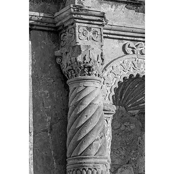 Carved Stone Column on the Front of the Alamo (A0017919)