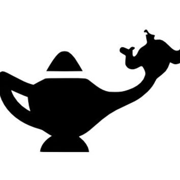 Robin Williams Tribute Decal - Aladdin Genie and Lamp - iPhone Decal - MacBook Decal - Car Decal - Proceeds for Charity - FREE SHIPPING
