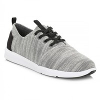 TOMS Mens Grey Textured Woven Del Rey Sneakers