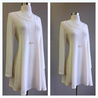 A Soft Kitty Tunic in Ivory