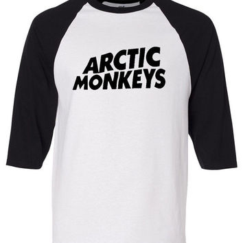 ARctic Monkeys T Shirt AM Rock kroq Hipster alex turner 3/4 jersey baseball