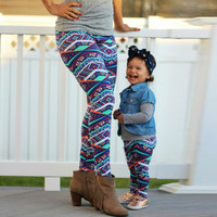 Mommy And Baby Girl Couple Cute Leggings