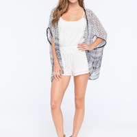 FULL TILT Lace Tie Waist Womens Romper | Rompers