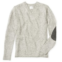 Elbow Patch V-Neck - Sweaters - Mens Shop