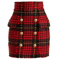 Hound's-tooth checked mini skirt | Balmain | MATCHESFASHION.COM UK