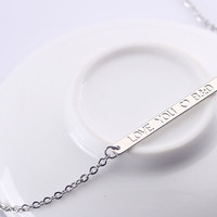 Custom Name Plate Necklace - Personalized Silver Bar Necklace - Mother's Day Gift