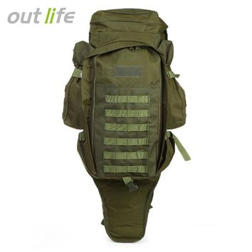 Outlife Military Backpack 60L Large Capacity Outdoor Camping Backpacks Hiking Water Resistant Travel Anti-scratch Waterproof Bag