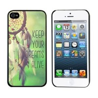 Aokdis New Hot Selling Fashional Individualized Hard Back Case for Iphone 5 5g 5s (Keep Your Dreams Alive)