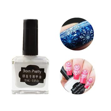 1pc 15ml White Color Born Pretty Nail Art Stamping Polish Newly Nail Polish Vanish Color#4 #22323