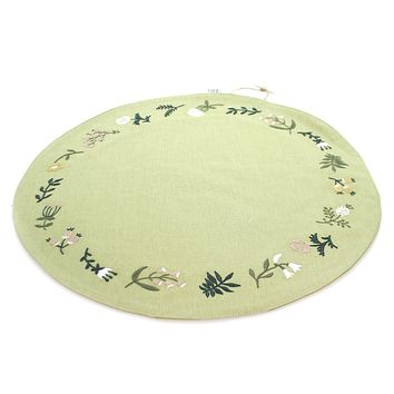 Tabletop FLORAL ROUND PLACEMAT Fabric Fresh Linen By Cathy Heck 102565
