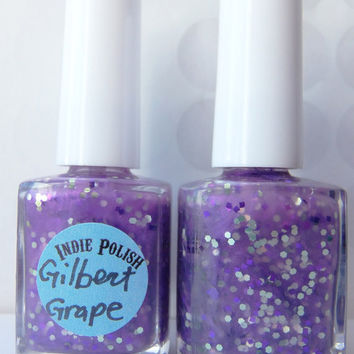 Gilbert Grape Nail Polish -  full size bottle  - Handmade - opaque - purple - nail lacquer