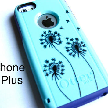 OTTERBOX iphone 6plus case, case cover iphone6plus otterbox ,iphone otterbox case,custom otterbox iPhone , otterbox, dandelion otterbox case