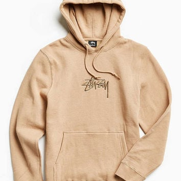 Stussy Stock Embroidered Hoodie Sweatshirt - Urban Outfitters