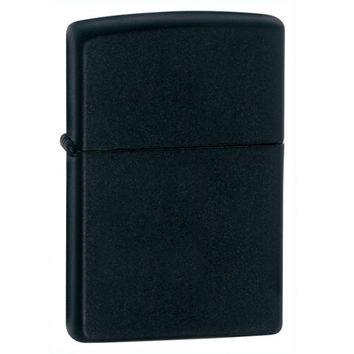 Zippo 218 Classic Plain Matte Black Windproof Pocket Lighter