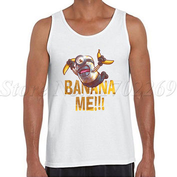 Banana Me Minions retro printed Men tank tops Description me Minion design Vest fashion o-neck basic singlets