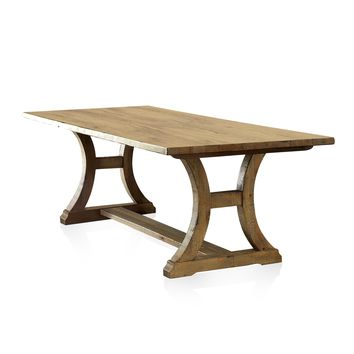 Nara Industrial Dining Table, Rustic Pine