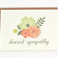 Dearest Sympathy - Condolence - Thinking of You - Greeting Card