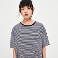 OVERSIZED TEXTURED T-SHIRTDETAILS