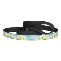 White Plumeria On Blue Tropical Flowers With Name Pet Lead