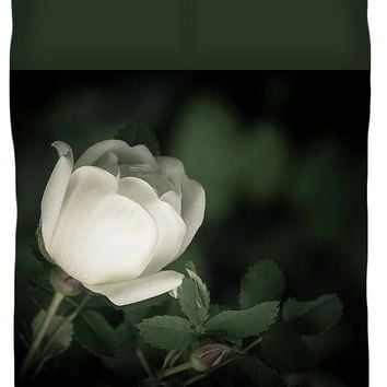 White Flower Of A Dogrose Duvet Cover