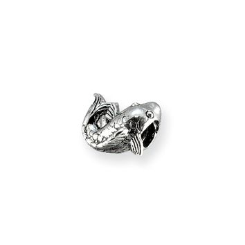 Sterling Silver Swimming Fish Bead Charm