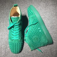 Cl Christian Louboutin Louis Spikes Style #1818 Sneakers Fashion Shoes - Best Deal Online