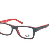 New Ray Ban RB5268 5180 52mm Gloss Red&Gray Frames Glasses RX Sunglasses + Case