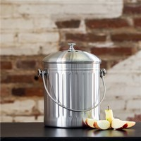 Stainless Steel Compost Bin (491561174), Eco Kitchen Accessories, Compost Bins, & More | bambeco