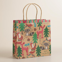 Medium Foxes and Deer Gift Bag - World Market