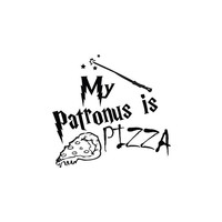 My Patronus is PIZZA Funny Harry Potter Decal Sticker