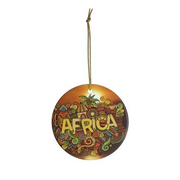 Africa Dreaming Ceramic Ornaments