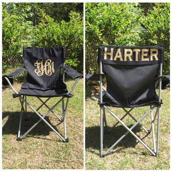 Ordinaire Monogrammed Camp Chair, Beach Chair, Personalized Folding Chair,