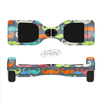 The Colorful Scratched Mustache Pattern Full-Body Skin Set for the Smart Drifting SuperCharged iiRov HoverBoard