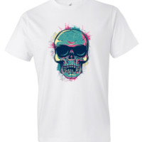 Paint Blasted Skull T-shirt - Trending Topic T-shirts