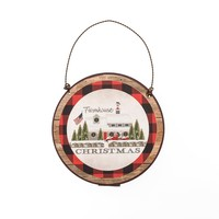 FARMHOUSE CHRISTMAS WITH BORDER ORNAMENT