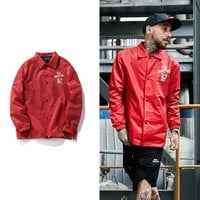 Sports On Sale Hot Deal Jacket Couple Embroidery Korean Baseball [272619438109]