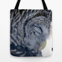 Sleeping Owl Tote Bag by Veronica Ventress