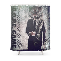 Society6 Trill Tiger Shower Curtain