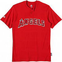 Los Angeles Angels of Anaheim (YOUTH XL) Cool Base Moisture Management Two-Button MLB Officially Licensed Majestic Major League Baseball Replica Jersey