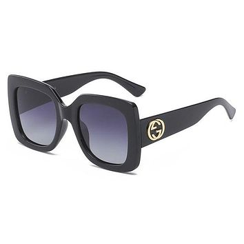 Gucci Trending Classic Women Men Leisure Sun Shades Eyeglasses Glasses Sunglasses Black I