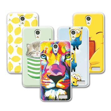 Fruit Art Print Painting Cat Minions Banana Prefect Phone Cases Lenovo A319 Case Cover For Lenovo A319 4.5 inch Case +Free Gift