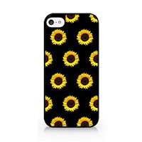 Sunflower - Sunflower Pattern - Summer Pattern - Pastel - Minimalism - Hipster - Indie - iPhone 5C Black Case (C) Andre Gift Shop