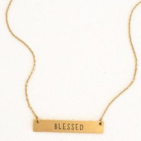 """Blessed"" Bar Layering Necklace"