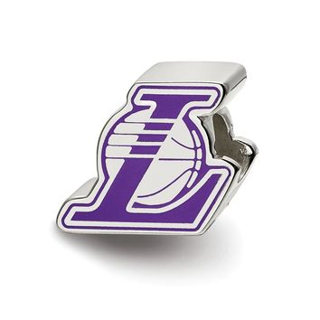 NBA Los Angeles Lakers Enameled Charm Bead in Sterling Silver