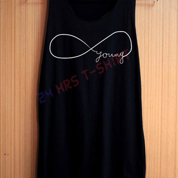 INFINITY Shirt Forever Young One Direction Shirt Top Tank Top Tee Tunic Singlet Women - Size S M L