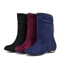 Flock Ankle Boots Women Shoes Fall|Winter